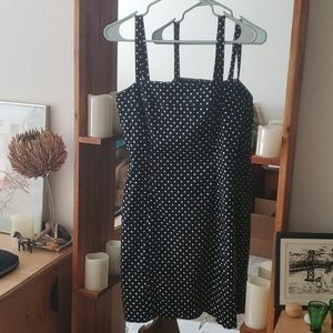 Tahari Polka-dot Black and White Dress